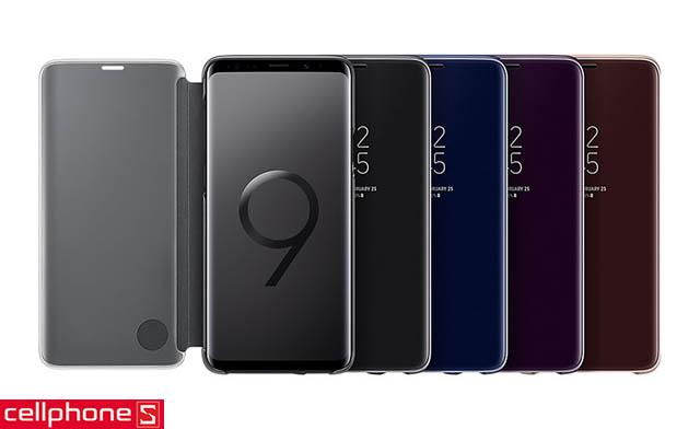 Bao da cho Galaxy S9+ - Samsung Clear View Standing Cover EF-ZG965