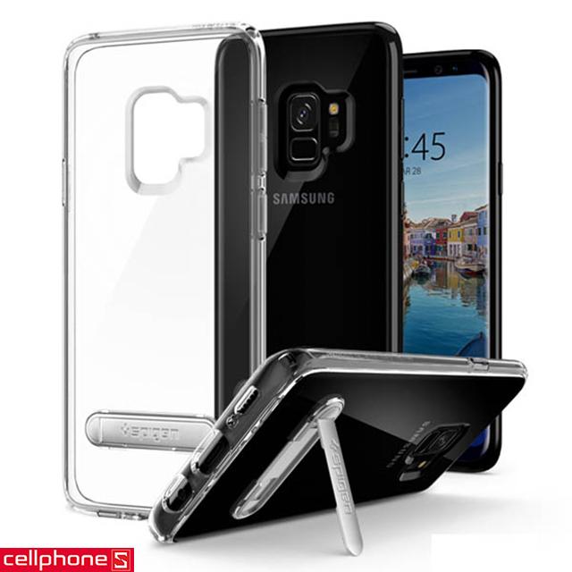 Ốp lưng cho Galaxy S9+ - Spigen Ultra Hybrid S Case