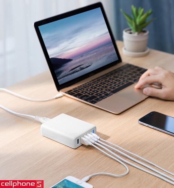 Sạc Anker PowerPort+ 5 Ports USB-C