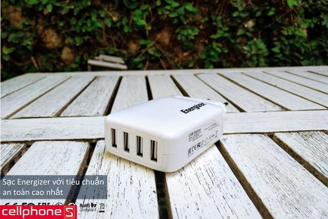Sạc Energizer Classic Smart Multiport 4 USB Charger USB4BEUCWH5