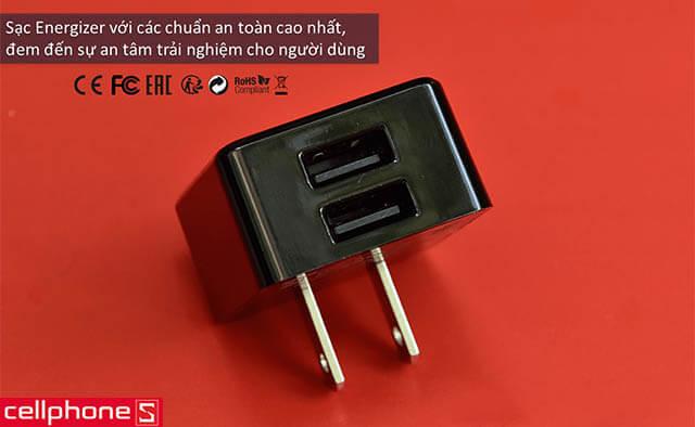 Sạc Energizer Hightech Wall Charger 2.4 A 2 USB ACA2BUSH