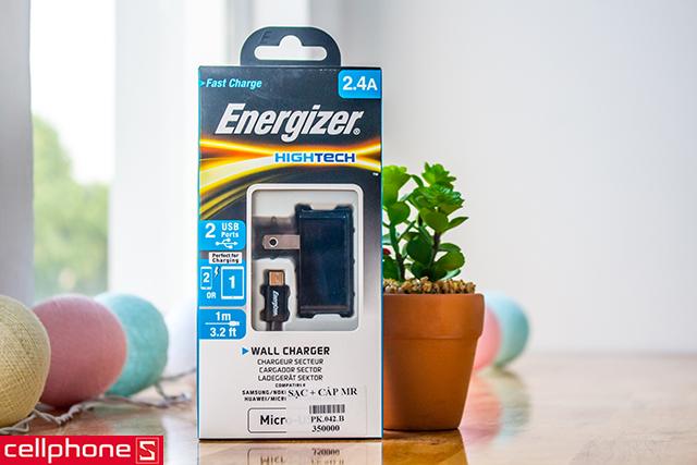 Sạc Energizer Hightech Wall Charger Micro USB 2.4 A ACA2BUSHMC3