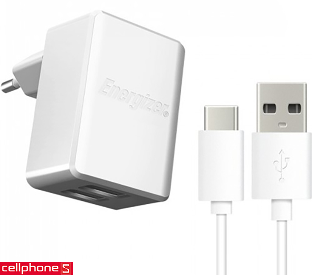 Sạc Energizer Hightech Wall Charger USB-C 2.4 A ACW2BEUHC23