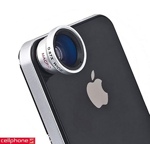 Phụ kiện cho iPhone 5 / 5S - Lens 0.67X Wide Angle Macro