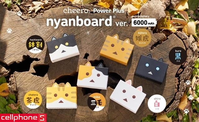 Pin dự phòng cheero Power Plus 6000 mAh nyanboard CHE-073