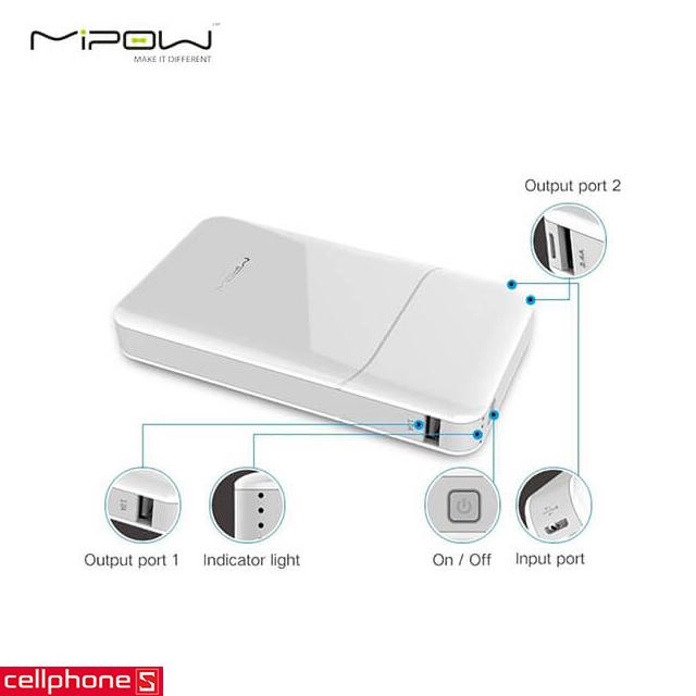 Pin dự phòng MIPOW Power Cube 20000 SPT07