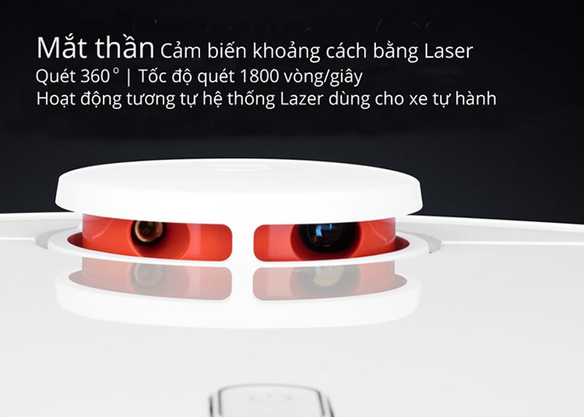 robot hút bụi xiaomi mi vacuum trang bị 12 loại cảm biến cùng mắt thần