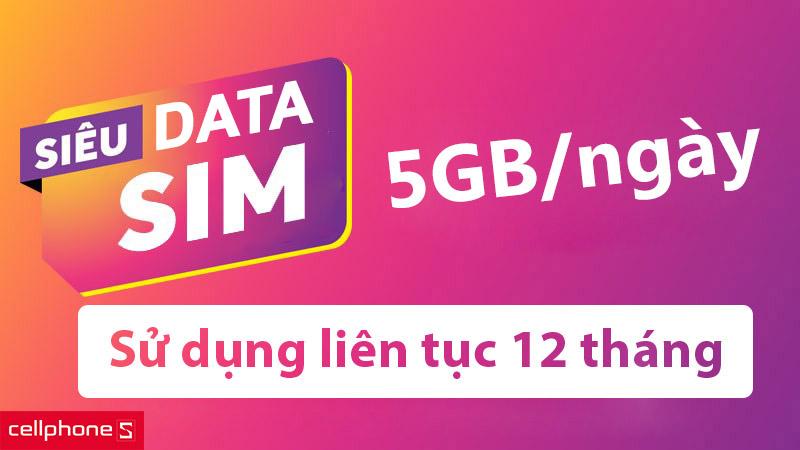siêu sim 4g vietnamobile 1800gb 1 năm cellphones