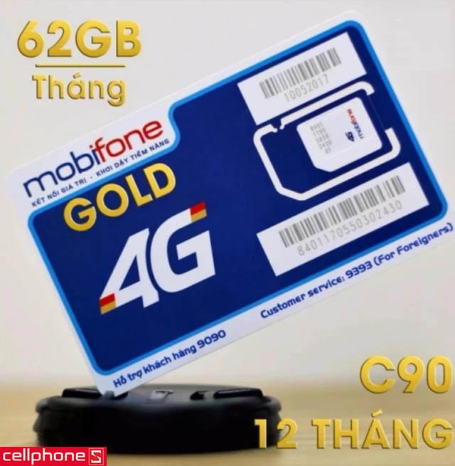 SIM 3G/4G MobiFone Gold (C90)