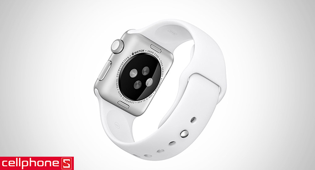 Đồng hồ thông minh Apple Watch Sport 38 mm Aluminum Case with White Sport Band