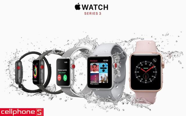 Đồng hồ thông minh Apple Watch 3 38 mm Gold Aluminum Case Pink Sand Sport Band MQJQ2 cũ, mới 99%