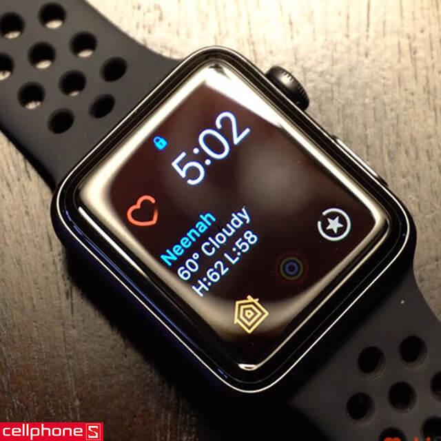Đồng hồ thông minh Apple Watch 3 Nike+ (Plus) 42 mm Space Gray Aluminum Case Black Sport Band MQL42