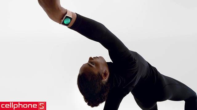 Đồng hồ thông minh Apple Watch 4 44mm (GPS) Gold Aluminum Case - Pink Sand Sport Band MU6F2