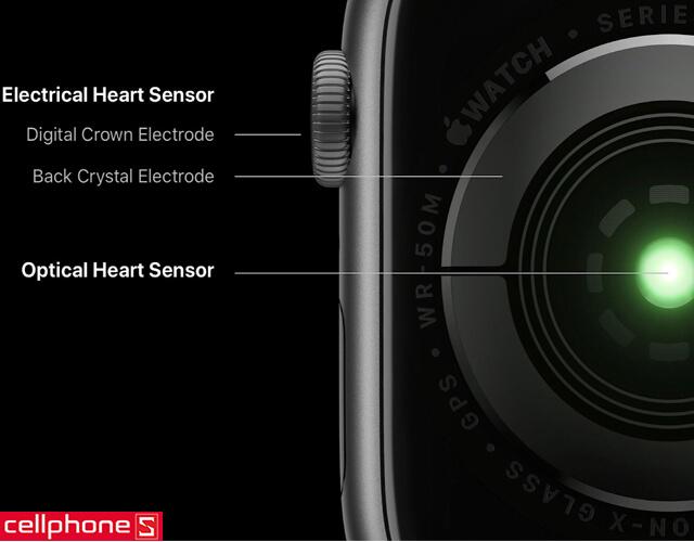 Đồng hồ thông minh Apple Watch 4 44mm (GPS) Silver Aluminum Case - White Sport Band MU6A2
