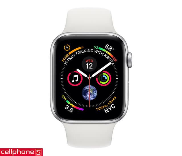 Đồng hồ thông minh Apple Watch 4 44mm (GPS) Silver Aluminum Case
