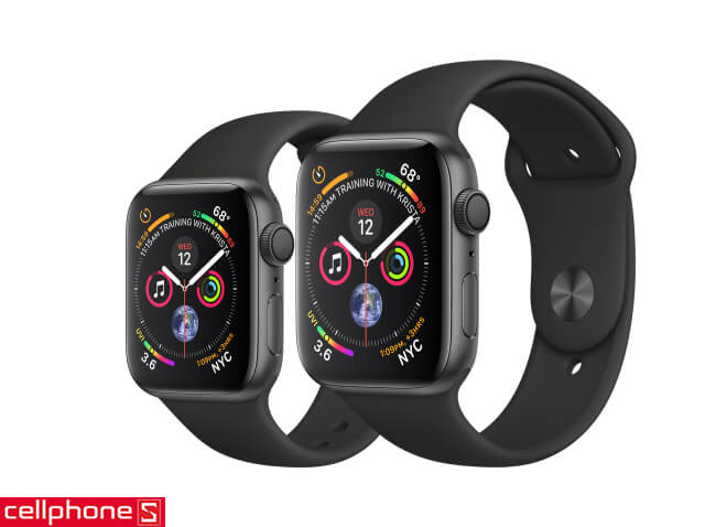 Đồng hồ thông minh Apple Watch 4 44mm (GPS) Space Gray Aluminum Case - Black Sport Band MU6D2