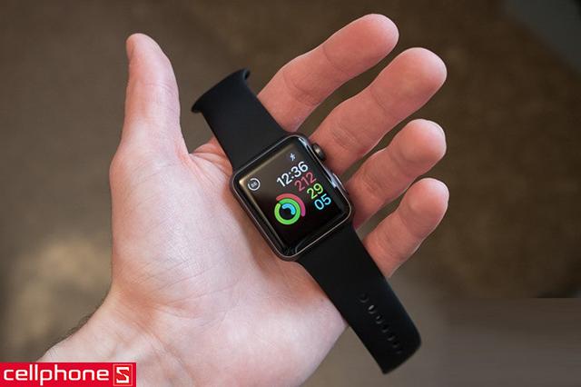 Đồng hồ thông minh Apple Watch Series 1 38 mm Space Gray Aluminum Case với Black Sport Band MP022