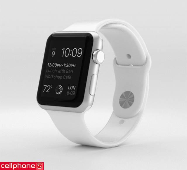 Đồng hồ thông minh Apple Watch Series 1 42 mm Silver Aluminum Case với White Sport Band MNNL2