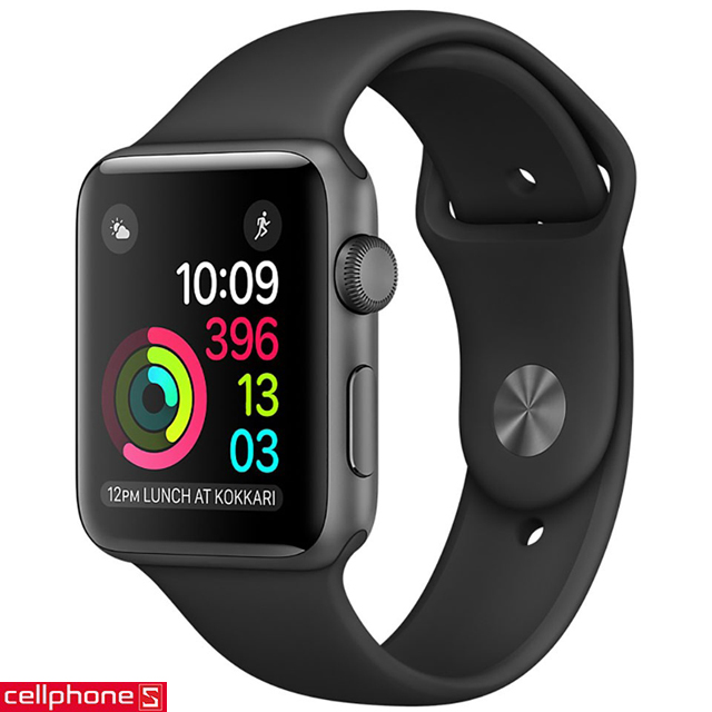 Đồng hồ thông minh Apple Watch Series 1 42 mm Space Gray Aluminum Case với Black Sport Band MP032