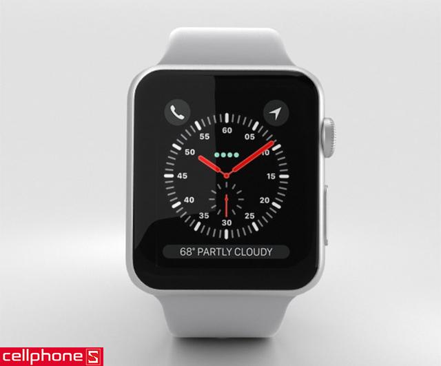 Đồng hồ thông minh Apple Watch Series 3 38 mm Silver Aluminum Case với Fog Sport Band MQKU2 (GPS)