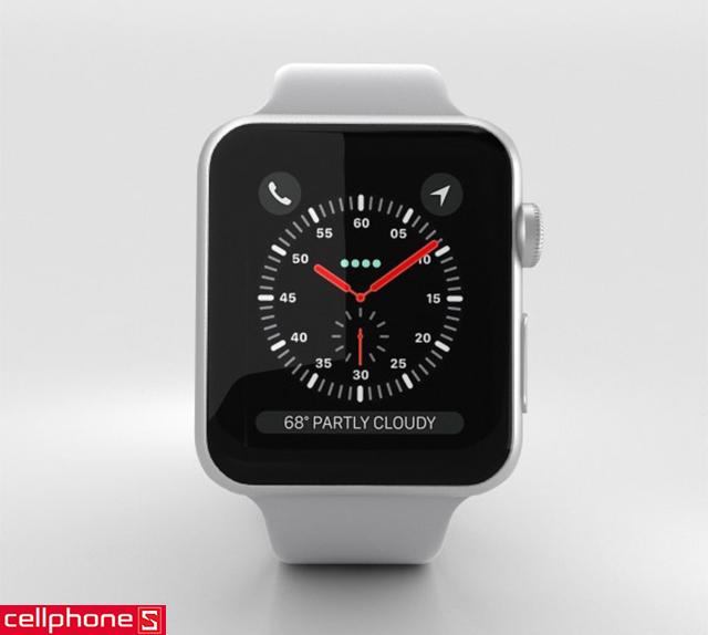 Đồng hồ thông minh Apple Watch Series 3 42 mm Silver Aluminum Case với Fog Sport Band MQL02 (GPS)