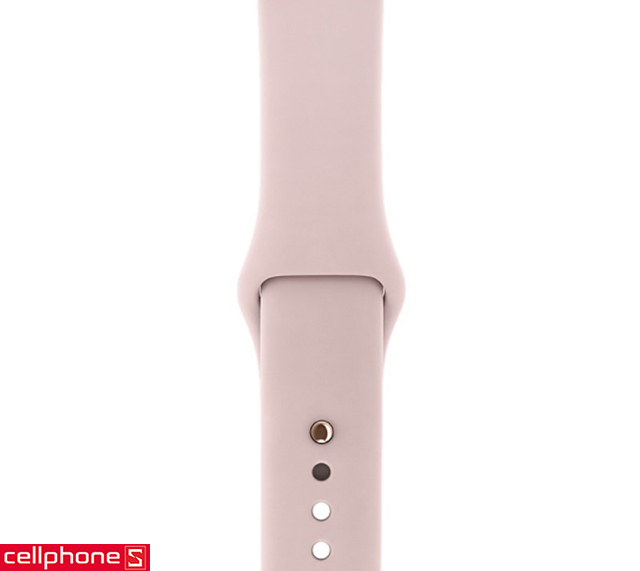 Đồng hồ thông minh Apple Watch Series 3 38 mm Gold Aluminum Case with Pink Sand Sport Band MQKW2