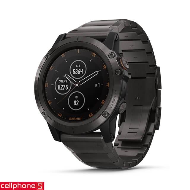 Đồng hồ thông minh Garmin Fenix 5 Plus Sapphire Carbon Gray - Titan