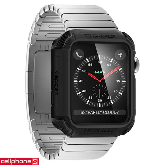 Ốp lưng cho Apple Watch Series 3/2/1 (38mm) - Spigen Rugged Armor Case