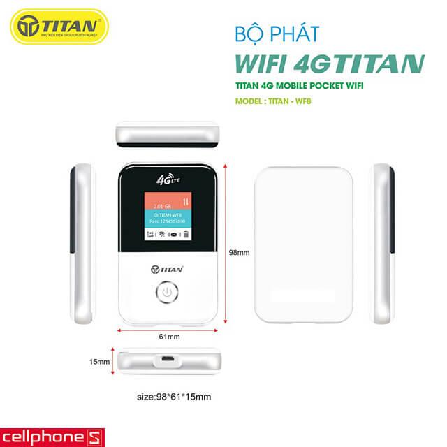 Bộ phát Wifi TITAN 4G – WF8