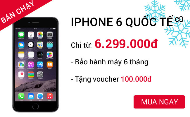 Mua Apple iPhone 6 16 GB cũ 99% tại CellphoneS
