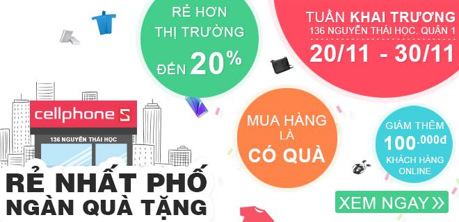 Khai truong CellphoneS 136 Nguyen Thai Hoc, Quan 1, Tp Ho Chi Minh