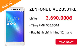 ZenFone Live ZB501KL chính hãng giá tốt tại CellphoneS.com.vn