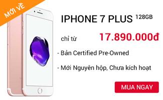 IPHONE 7 PLUS 128GB MỚI tại CellphoneS.com.vn