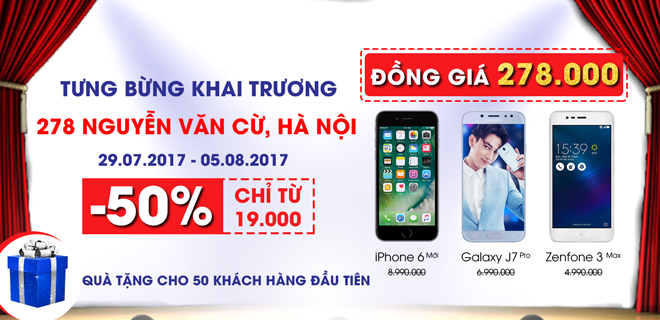 Khai trương CellphoneS 278-280 Nguyễn Văn Cừ
