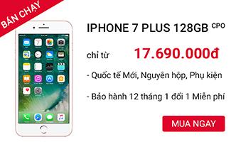 IPHONE 7 PLUS 128 GB CPO giá rẻ tại CellphoneS.com.vn