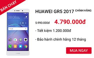 HUAWEI GR5 2017, GIẢM 1.2 TRIỆU CÒN 4.790TR