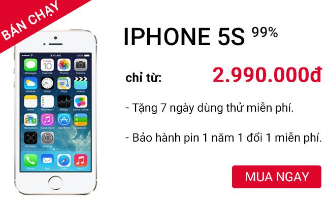 Apple iPhone 5S giá tốt tại CellphoneS.com.vn
