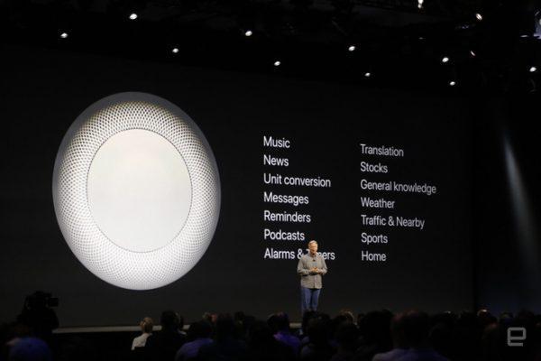 Sforum - Trang thông tin công nghệ mới nhất wwdc2017-1357-1496690774811-600x400 Apple ra mắt HomePod: Loa Bluetooth thông minh với chất lượng âm thanh tuyệt đỉnh, hỗ trợ Siri, giá 349 USD
