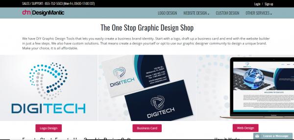 Website thiết kế logo online designmantic