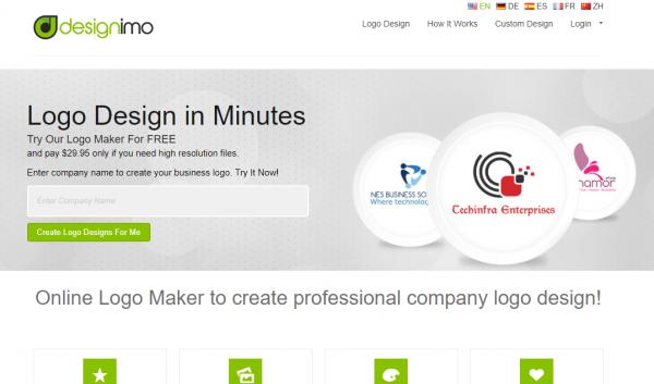 Website thiết kế logo online designimo