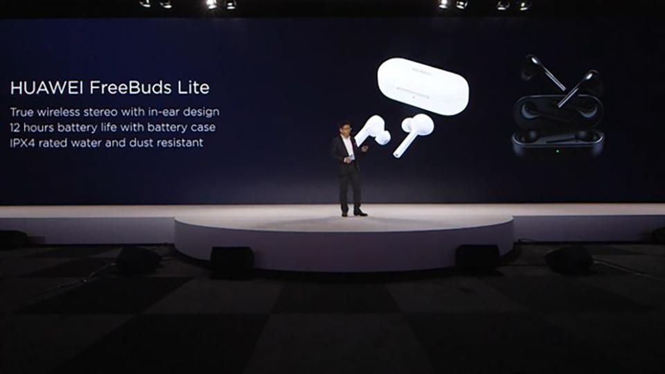 Đây là tai nghe không dây Huawei FreeBuds Lite, đối thủ trực tiếp của AirPods 2
