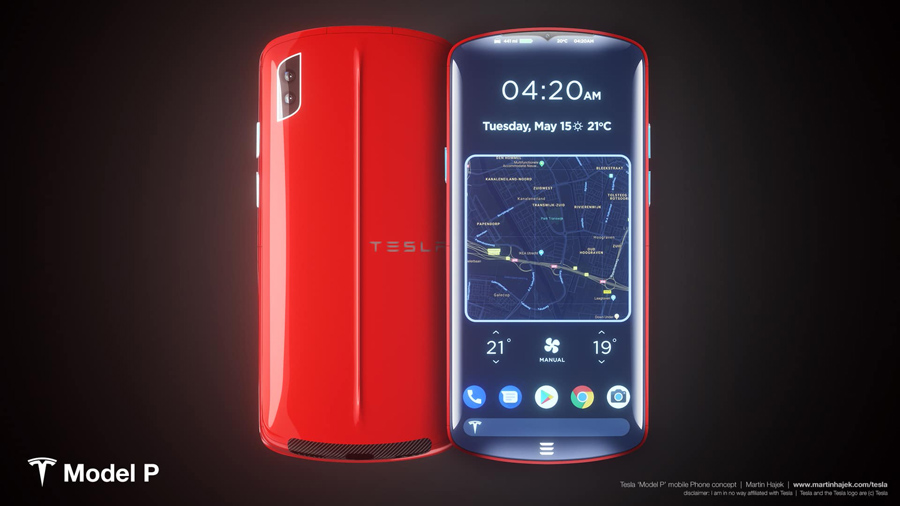 Sforum - Latest technology information page tesla_model_p_smartphone Admire Tesla smartphone concept: Nice to imagine