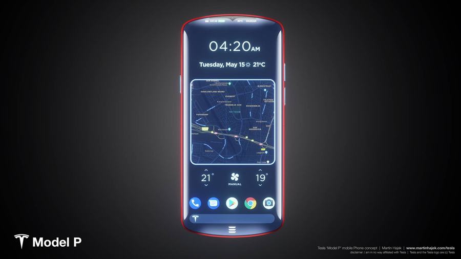 Sforum - Latest technology information page tesla_phone_model_p Admire Tesla smartphone concept: Nice to imagine