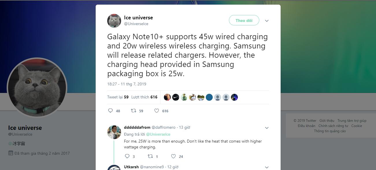 Sforum - Trang thông tin công nghệ mới nhất Galaxy-Note-10-sac-nhanh-1 Galaxy Note 10+ sẽ hỗ trợ sạc nhanh 45W và sạc không dây 20W nhưng chỉ được tặng kèm củ sạc 25W