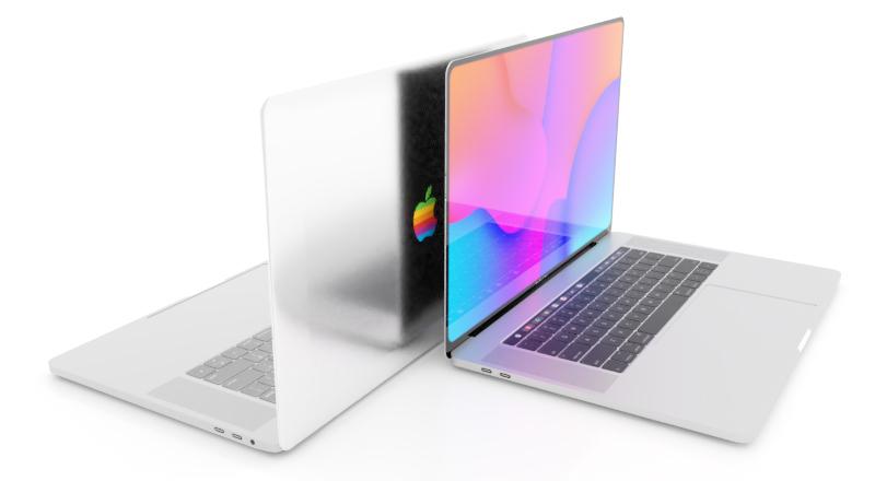 """Sforum - Trang thông tin công nghệ mới nhất MacBook-rainbow-Apple-logo-concept Apple sẽ hồi sinh logo """"Táo 7 sắc cầu vồng"""" huyền thoại trong năm nay?"""