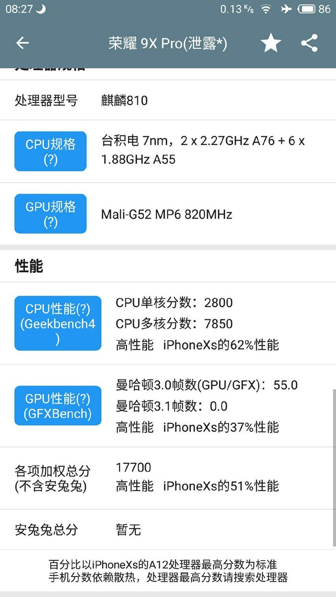Sforum - The latest honor-9x-pro-specs-leak information page - 2 Honor 9X and 9X Pro configurations revealed: Kirin 810, 3-camera cluster, 4000mAh battery, released July 23