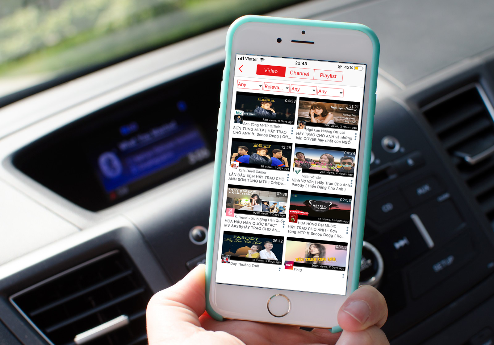 Sforum - The latest technology information page iphone-6-car-dash-music-hero Share 3 best apps to listen to YouTube music off the screen on iPhone