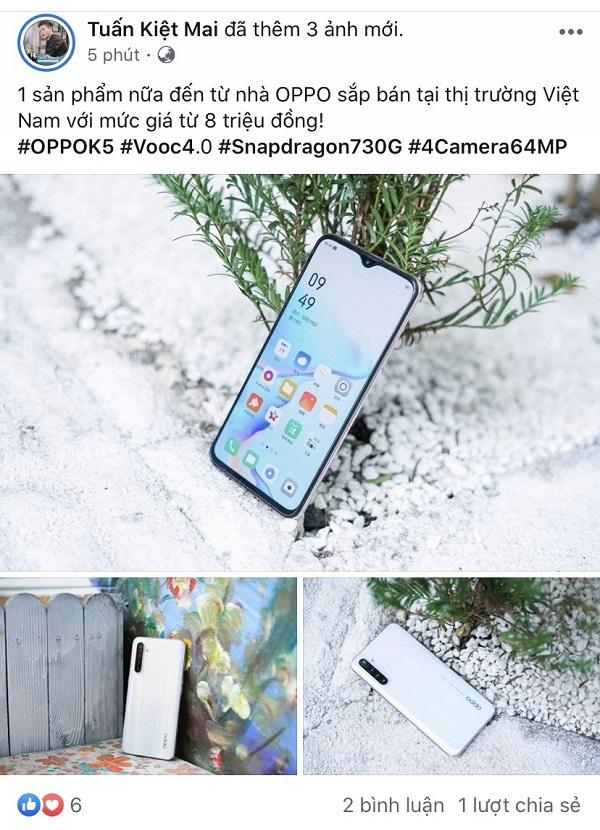 """Sforum - Trang thông tin công nghệ mới nhất mtk OPPO K5 với chip Snapdragon 730G, sạc nhanh VOOC 4.0, 4 camera 64MP có giá bán """"sốc"""" tại Việt Nam"""