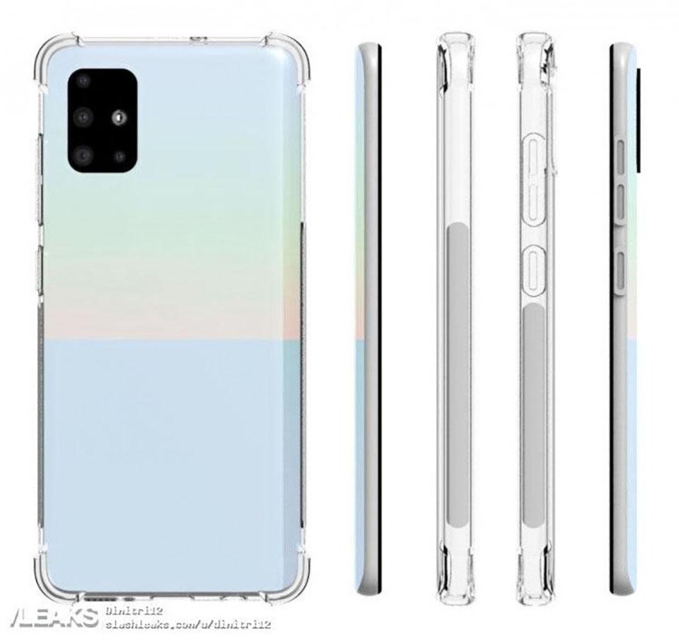 Thiết kế Samsung Galaxy A51 lộ diện rõ nét qua ốp lưng bảo vệ - 278991