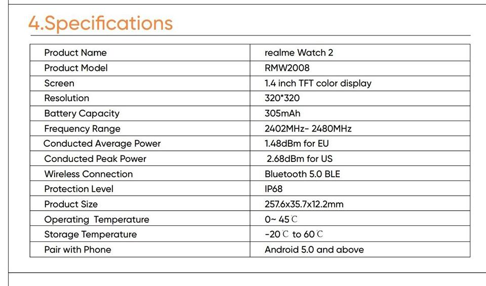 Sforum - Trang thông tin công nghệ mới nhất Realme-Watch-2-2 Rò rỉ hình ảnh, thông số kỹ thuật và tính năng của Realme Watch 2
